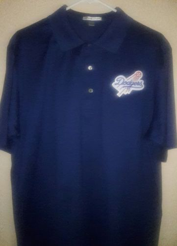 PETER MILLAR DOGERS SHIRT MENS, SIZE LARGE.