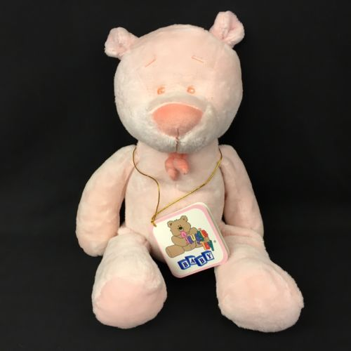 Snuggie Toy Baby Plush Pink Bear DGE Corp 13 Inches