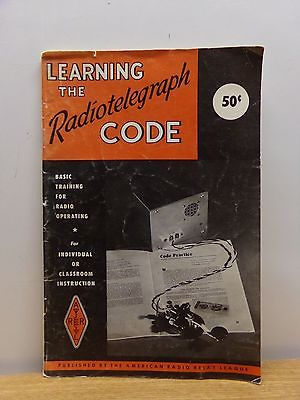 1970 Learning the Radiotelegraph Code PB by American Radio Relay League Good+