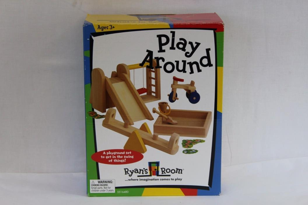 Play Around Ryan's Room Wooden Toy Set Playground Kids Building Imagination B2