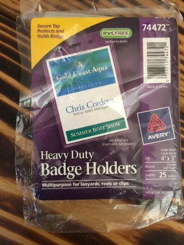Avery Secure Top Heavy-Duty Vertical Badge Holders  - AVE74472