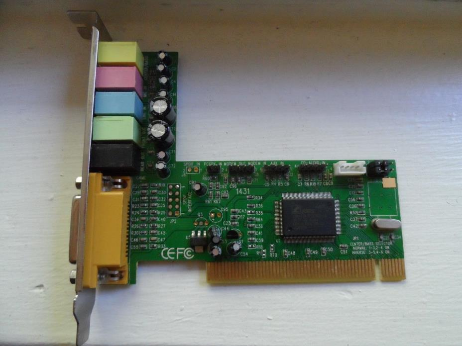 C-Media CMI8738 PCI-Based HRTF 3D Extension Positional Audio Chip