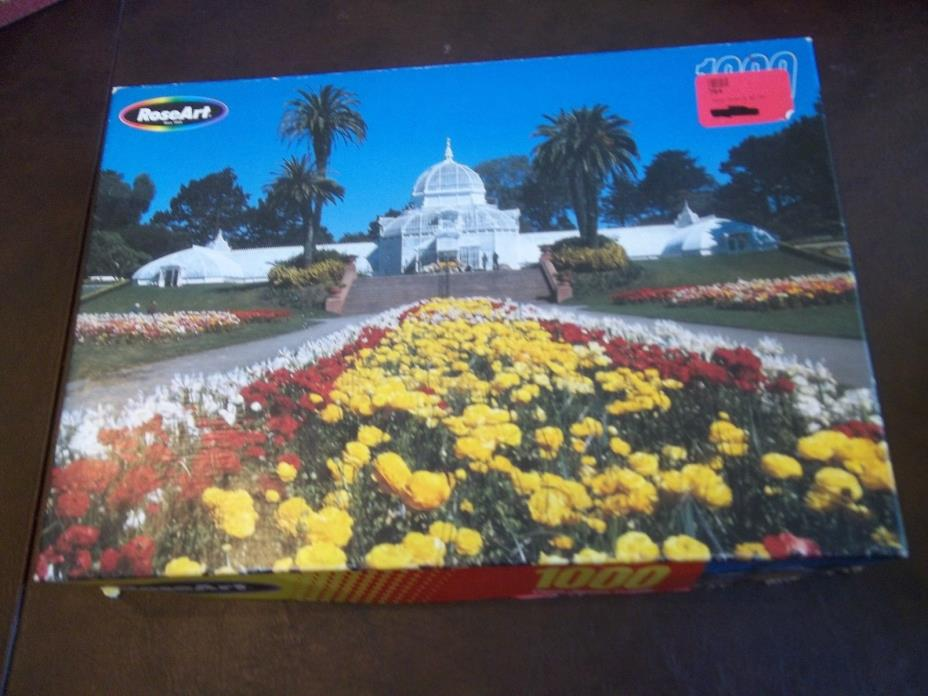 Roseart 1000 piece puzzle: Golden Gate Park.  Puzzle is sold as is.