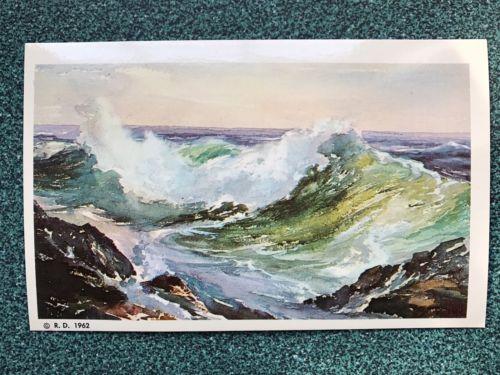 Vintage Maine Postcard 1962 Roger Freeing
