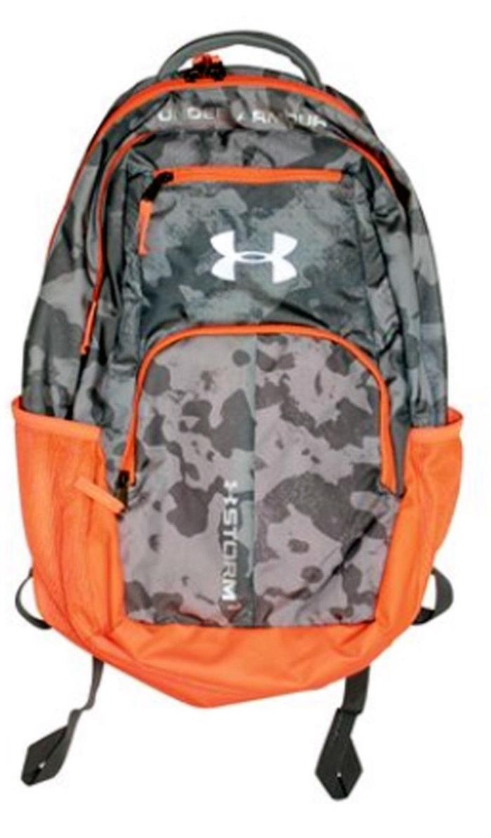Under Armour UA Highlight Reflective Logo Laptop Gray Camo Orange Storm Backpack