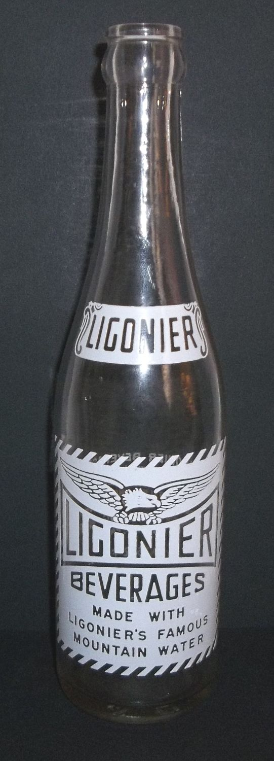 Ligonier Beverages Ligonier PA.12 oz White ACL Soda Eagle Graphic Famous Water