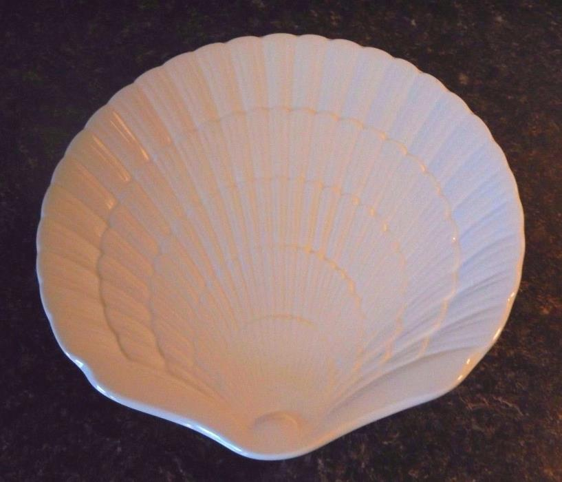 Mikasa OCEAN JEWEL WHITE Salad Dessert Shell Plate 8 5/8