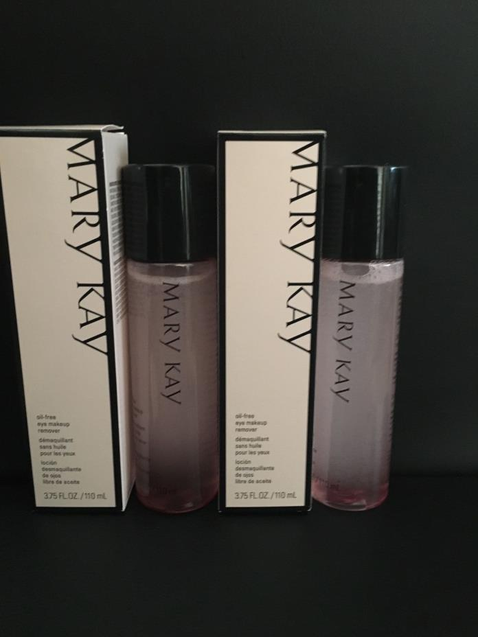 New in Box Mary Kay Lot Of 2 Oil Free Eye Makeup Remover 3.75oz Each Full Size