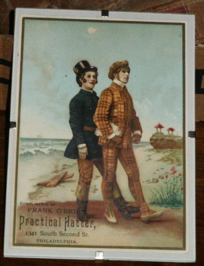 Vintage Advertising Card Frank O'Brien Pactical Hatter, Philadelphia