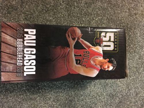 Chicago Bulls Pau Gasol Bobblehead In White Jersey NBA 2016 SGA Spurs, Lakers