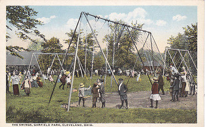 CLEVELAND, Ohio, 1900-1910's; The Swings, Garfield Park