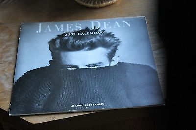 USED RARE James Dean 2005 16 Month Wall Calendar  Black White Photos