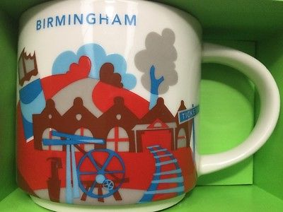 Starbucks City Mug, BIRMINGHAM, «You Are Here» Collection, 14oz.