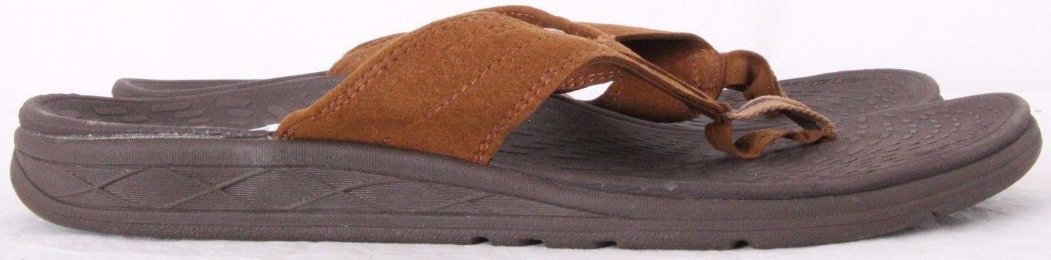 New Balance Revitalign Brown Suede Thong Flip Flop Sandal Men's US 11M