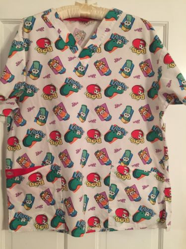 Veggie Talks Scrub Top. Size M. Excellent Condition
