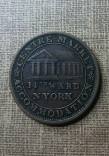 1837- HARD TIMES TOKEN ~CENTRE MARKET~LIBERTY ~NICE TOKEN!!