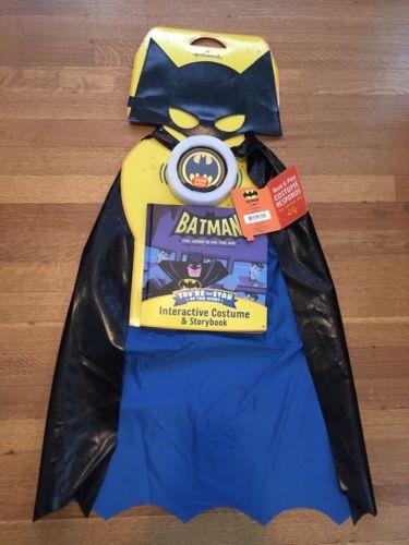 Hallmark Read & Play Batman Talking Costume w/ Book Voices Sounds Music NEW