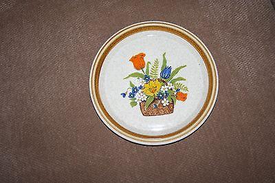 Mikasa Stone Manor salad/bread plates, set of 4, vintage floral