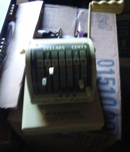 vintage PAYMASTER  X-550 Check Printer Machine w Key has 7 Columns (works)