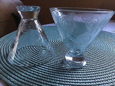 Vintage   Retro Bar Ware Rocks  Glasses Tumblers 1950s set of 2