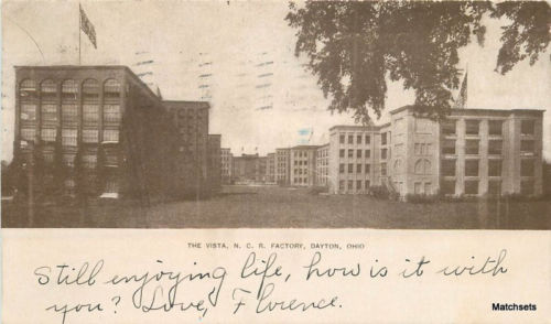 1908 Vista NCR Factory DAYTON OHIO Undivided postcard 9747
