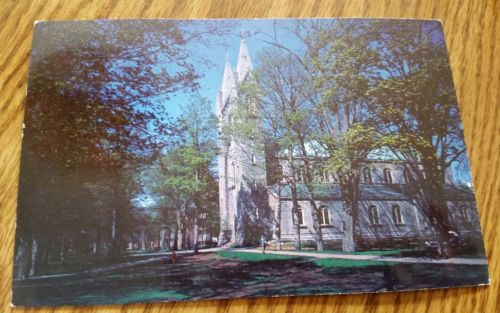 Postcard Bowdoin College Chapel Brunswick Maine 1955