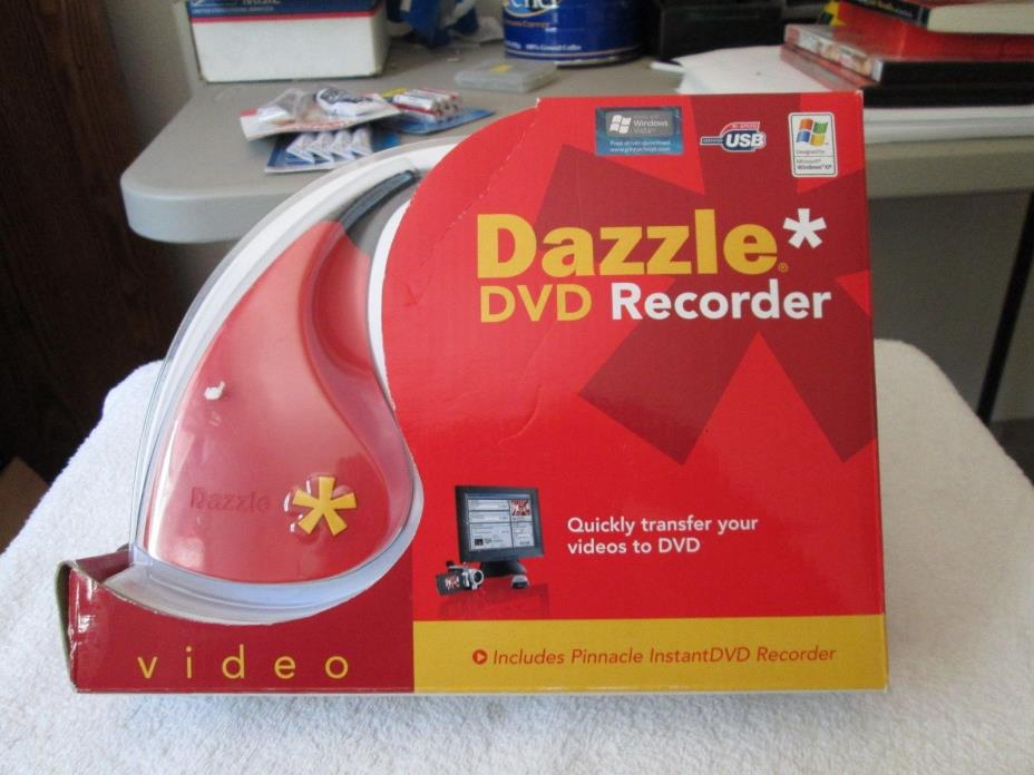 NEW ORIG. BOX DAZZLE DVD RECORDER -QUICK TRANSFER VIDEOS TO DVD