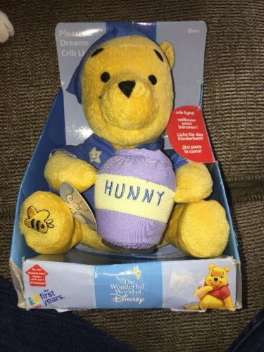 New The First Years Disney Winnie The Poor Bear Crib Night Light Pleasant Dreams