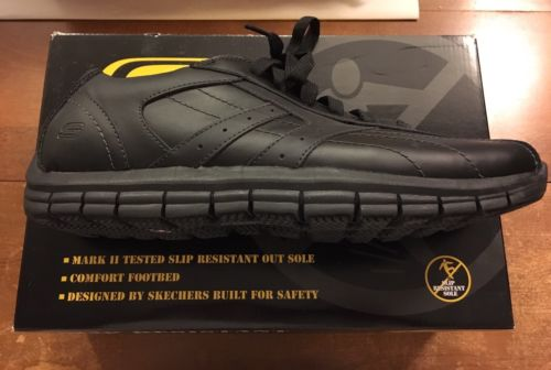 Skechers Work Magma Size 13 Black New Box. Unworn. Slip Resistant. Wide Width.