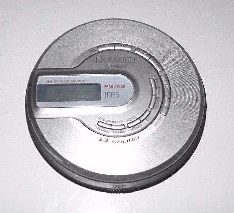 Panasonic SL-CT582V Portable CD Player FM/AM 30 Station Memory MP3 Disc