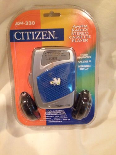 Citizen Aw-330 Am/fm/ Radio Cassette Player Portable Tape Player New In Package