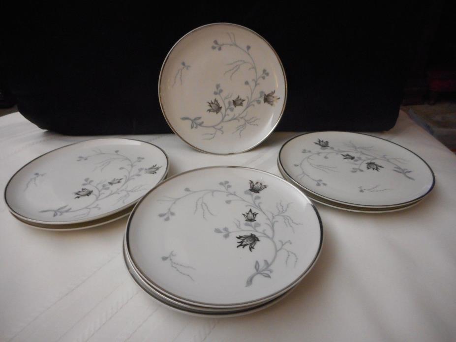 8 Eschenbach Germany Baronet Silver Arbor Bread plates