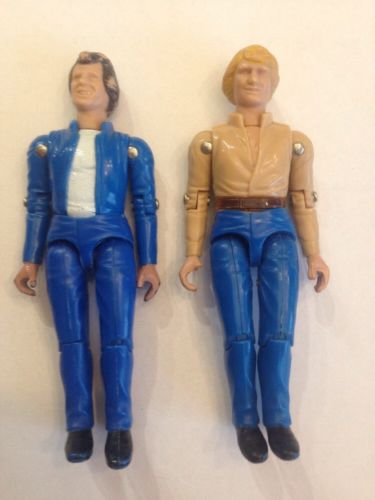 Bo and Luke Duke Vintage Action Figures 1980 Hazzaed