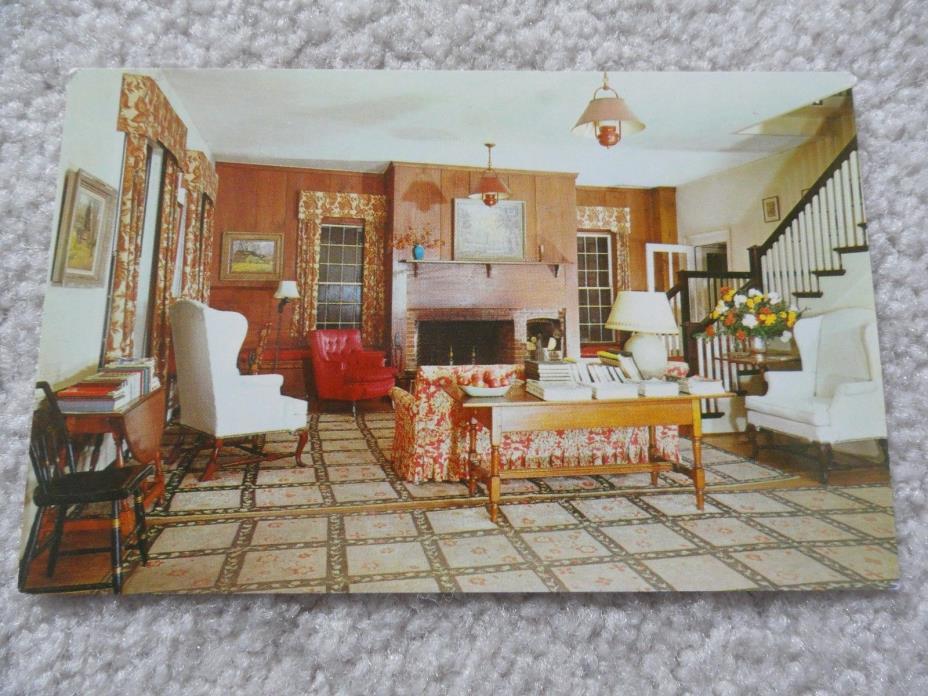 The Lobby of Deerfield Inn, Massachusetts Postcard