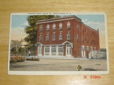 COLONIAL HOTEL MAINE ST PENNS GROVE N.J. POSTCARD