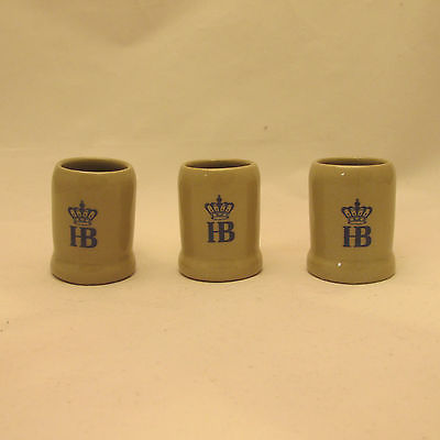 Hofbrauhaus HB Mini Steins, 1 oz. - Set of Three