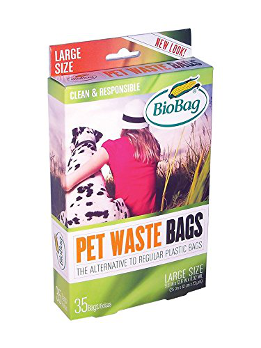 BioBag Dog Waste Bags, Large Sized, 35-Count Boxes (Pack of 1)