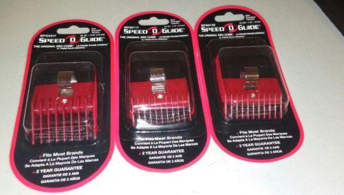 SPEED O GUIDE Clipper Guard Red Universal Comb Attachment. New