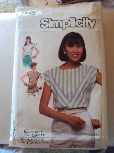 Simplicity 3 Tops Pattern 7448  UNCUT sizes 20-24 Vintage Free Shipping