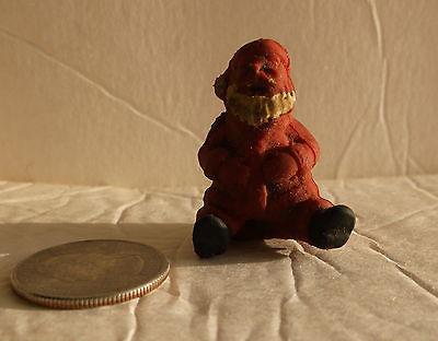 vintage 1960s mini red Rubber Santa figurine mini tiny a USA or a Japan toy