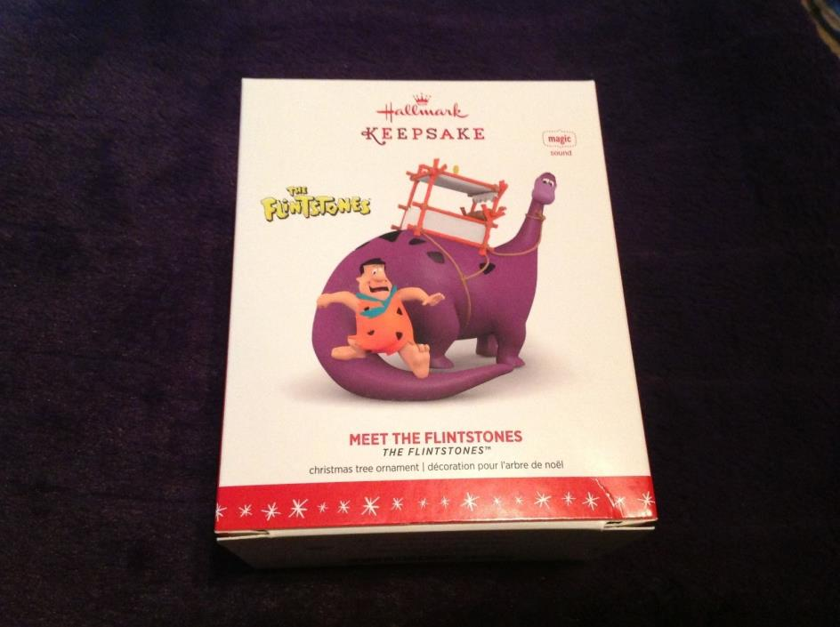 Hallmark 2016 The Flintstones MEET THE FLINTSTONES Dino & Fred NIB