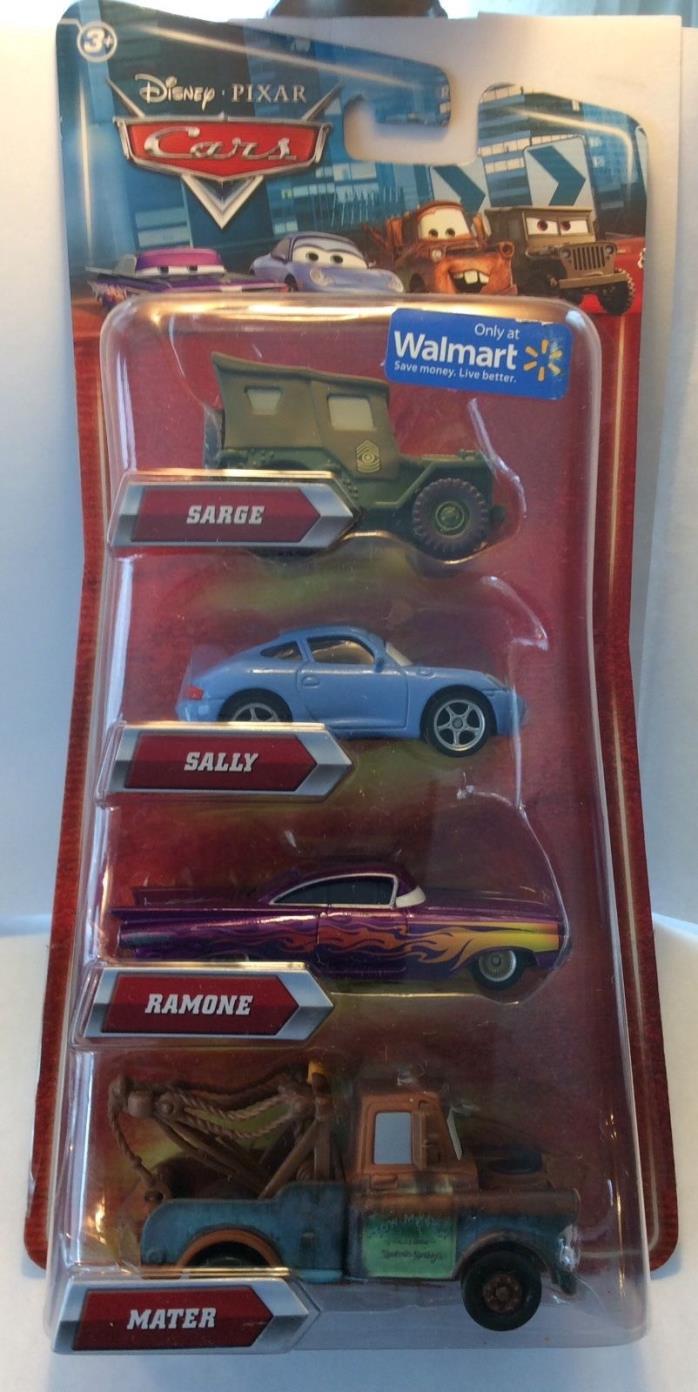 Disney Pixar Cars Wal-Mart Four Pack Sarge Sally Ramone Mater