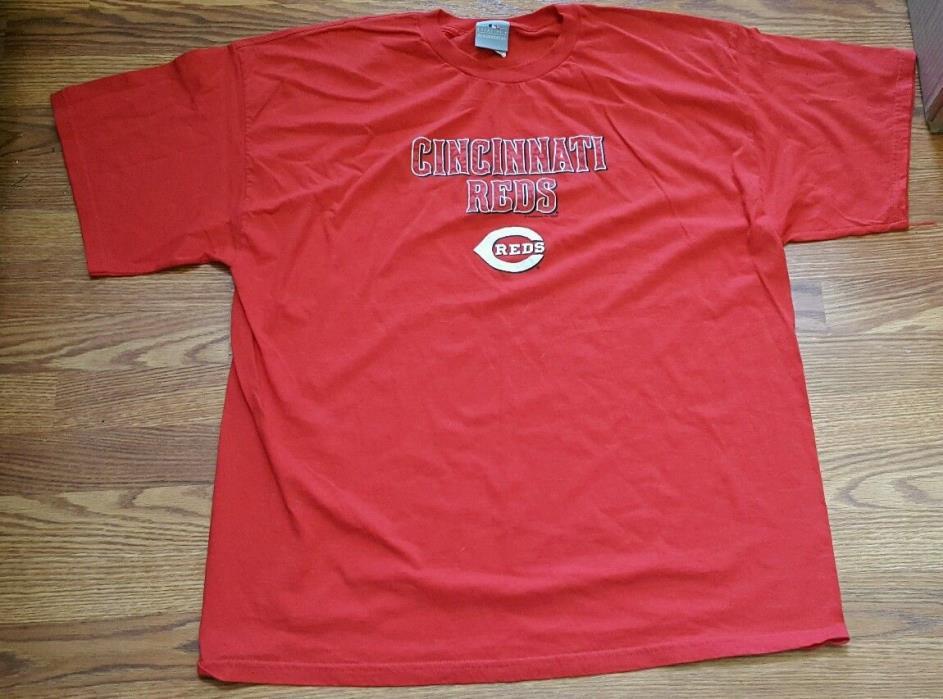 Cincinnati Reds T-shirt Sz 2XL MLB Genuine Merchandise 100% Cotton