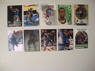 TERRELL BRANDON-10 COMMON CARD LOT-MINNESOTA TIMBERWOLVES