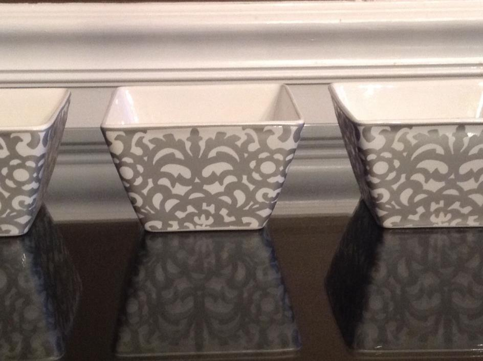 3 - 222 Fifth CASBAH SILVER Appetizer/Dessert/Candy Bowls 10896541-New- 4 1/2 in