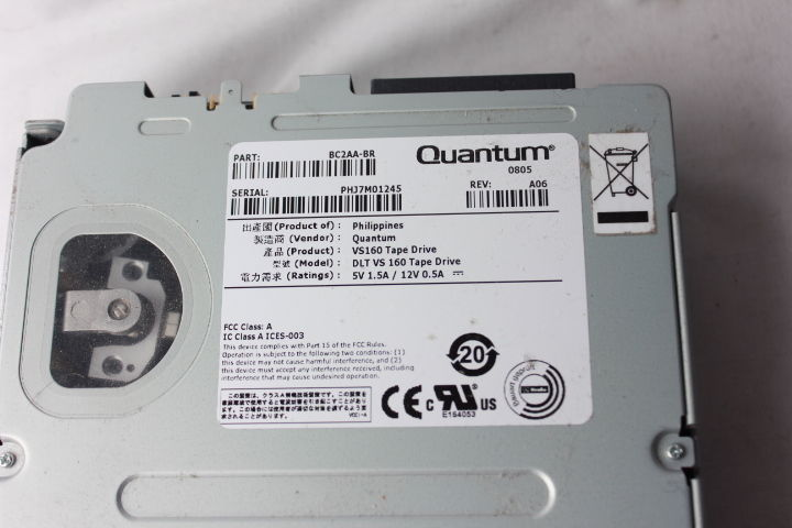 Quantum  BC2AA-BR  80/160GB DLT VS160 SCSI LVD Internal Tape Drive