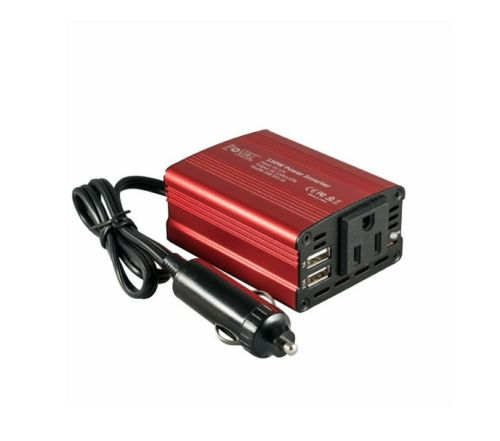 Foval 150W Car Power INVERTER DC 12V to 110V AC w dual USB charging ports ~ NIB