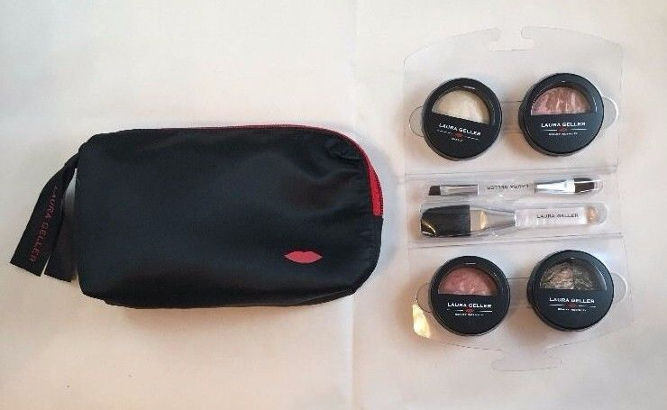 Laura Geller Fall Into Baked Face and Eye Set, Porcelain, with travel case NEW!