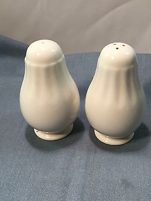 Mikasa White Salt & Pepper Shaker Set - Vertical Paneling
