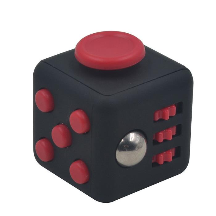 Magic *Red* Fidget focus toy Cube *Stress *anxiety relief *ADHD *Autism therapy.